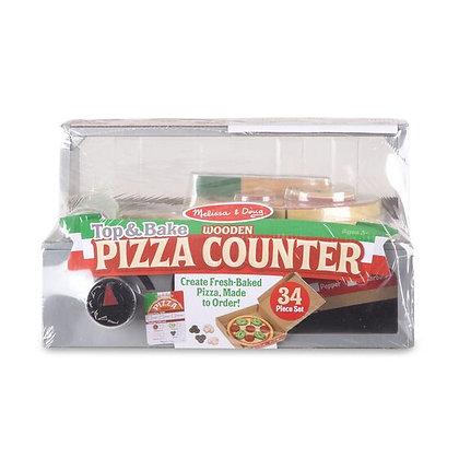 Melissa and Doug Top & Bake Wooden Pizza Counter