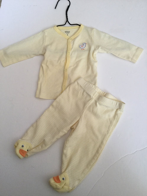 Carters yellow duck 2 piece set