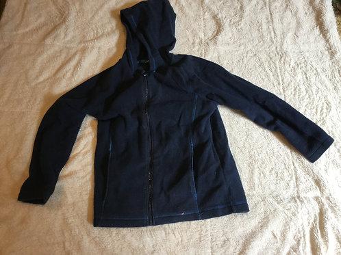 Lands End Blue Fleece Coat with Hood