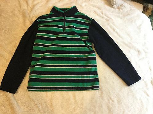 Childrens Place Green Blue Stripe Fleece
