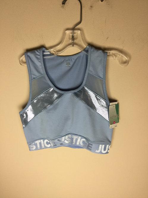 NEW Justice blue size 32 sports bra retails 20