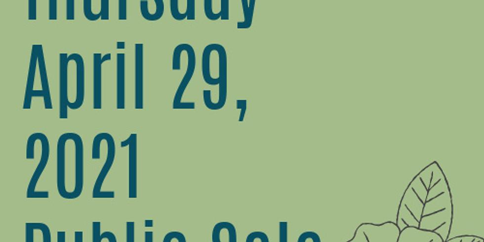 Spring 2021 Public Sale - Thursday