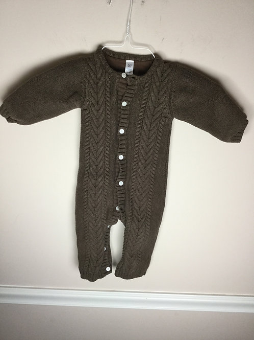 Gap brown lined Sweater one piece