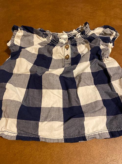 Carters ss shirt White blue plaid
