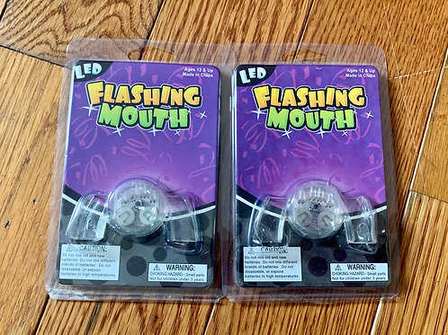 Flashing mouth pieces Nwt LED