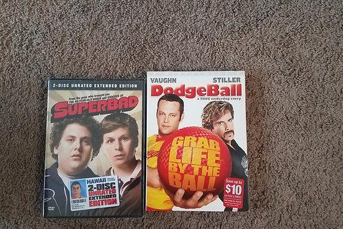 2 DVD set superbad Dodgeball
