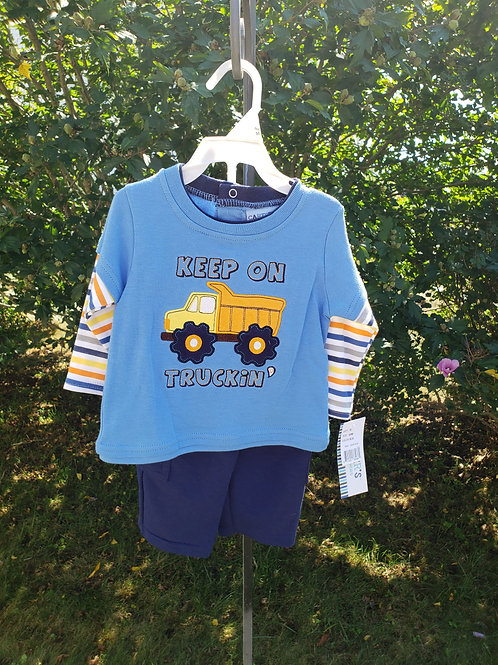 New w/Tag Carter's Blue truck top w/Pant