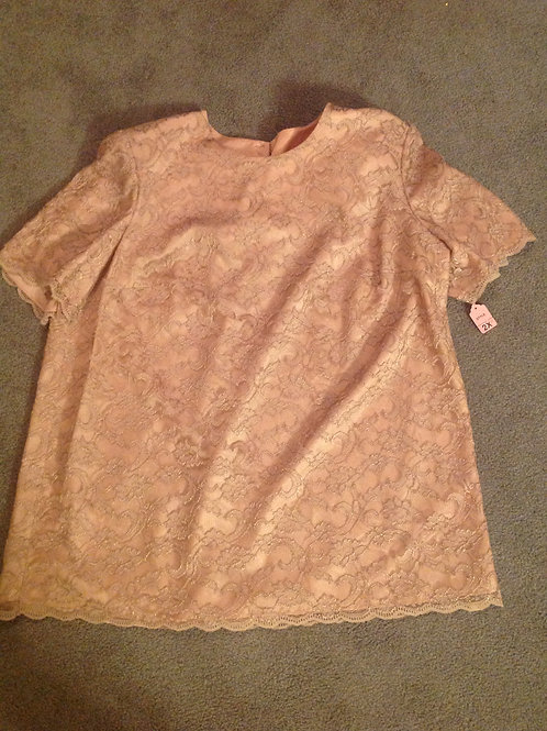 Silhouettes lace beige shirt NEW