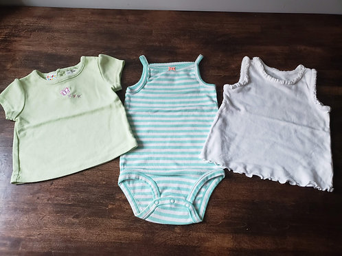 Mixed Lot of 3 SS onesies