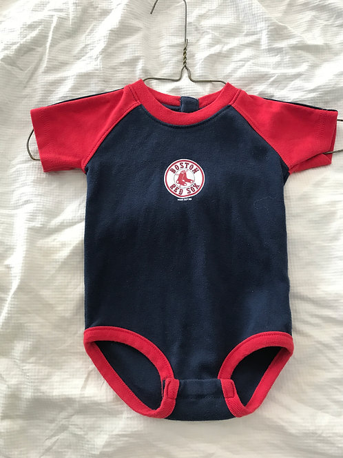 Mighty Mac sports 6-9m SS onesie Red Sox