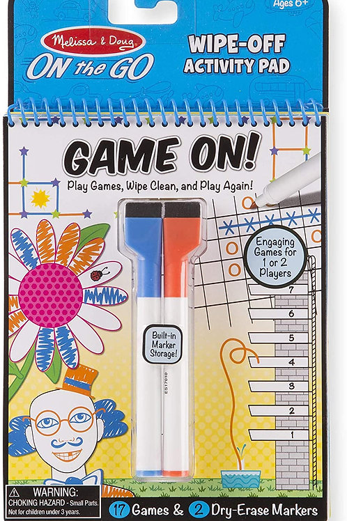 Melissa and Doug On the Go Wipe-Off Activity Pad