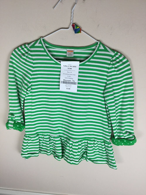 OI Gymboree green stripe B shirt