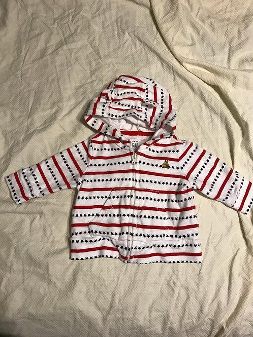 GAP hooded sweatshirt RWB stars/stripes