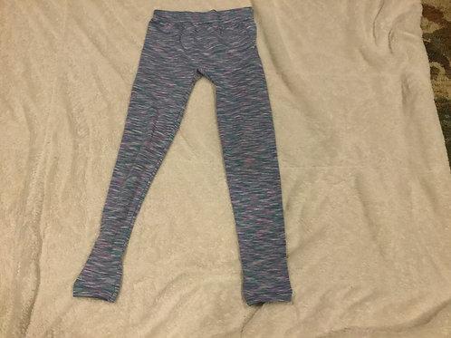 SO Purple Blue White Stripe Leggings