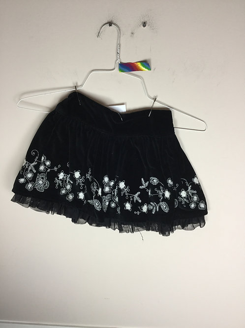 OI Old Navy B black velour skirt
