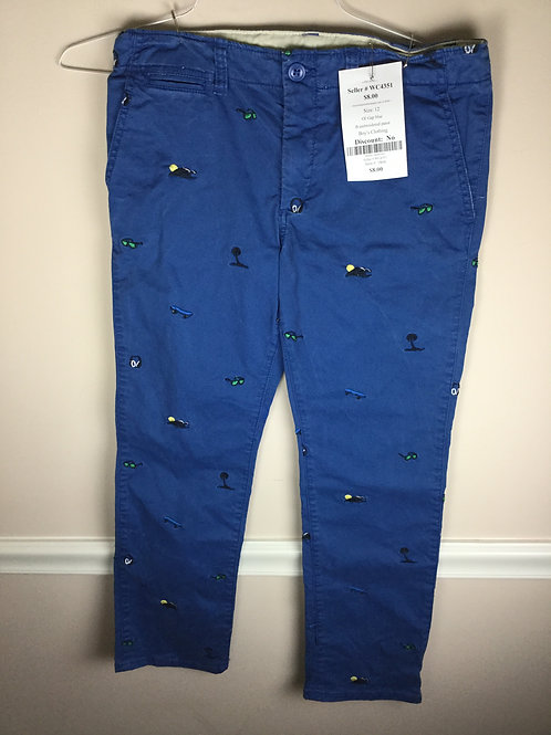 OI Gap blue B embroidered panst