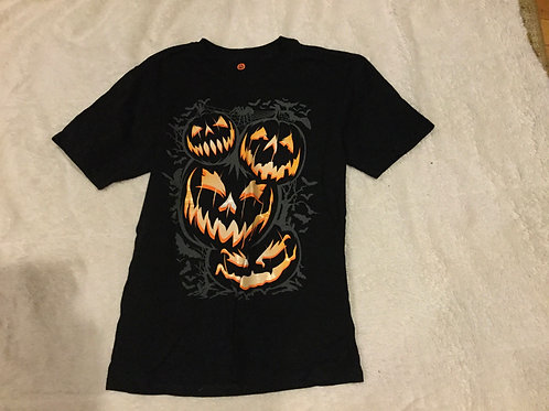 Halloween Black Tee 4 Jack O Lanterns