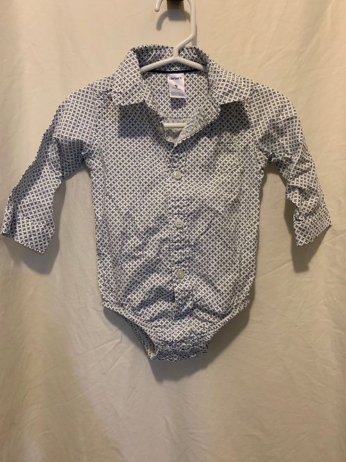 Carters collared onesie 9mo