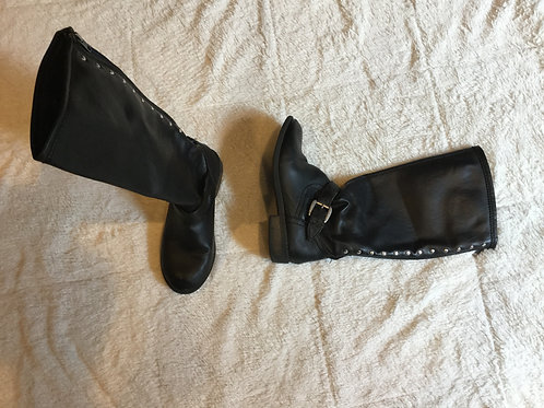Steve Madden Black Boots With Heel and Studs