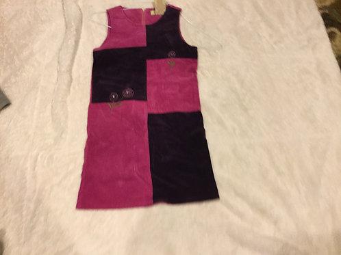 Jonathan Martin Corduroy Jumper Dress Pink Purple