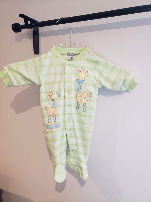Carter's Green Giraffe PJ's