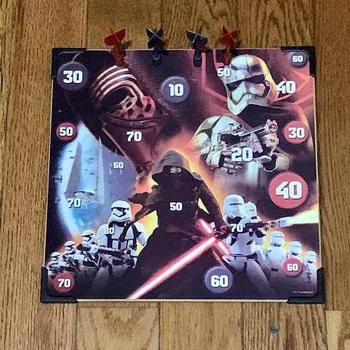 Star Wars dartboard With 4 magnetic darts