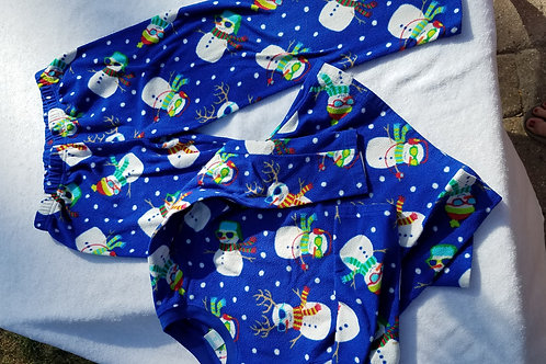 Children's Place Blue snowman 2 pc PJ
