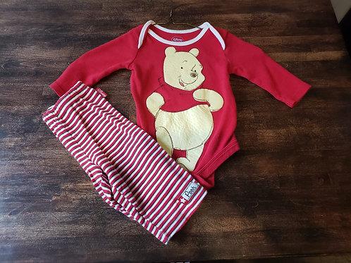 Disney Baby Red Pooh Shirt/Pant