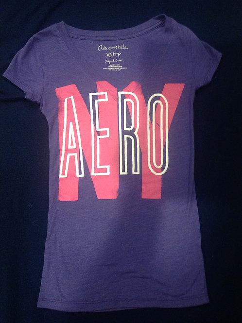 Aeropostale small purple ss shirt