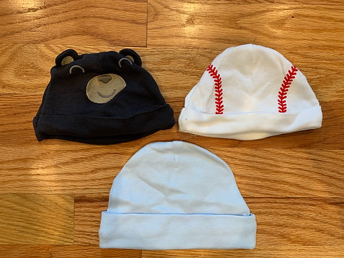 unknown 3 infant hats