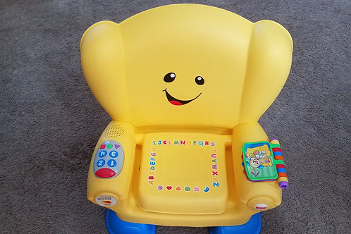 fisher price yellow laugh n learn chair