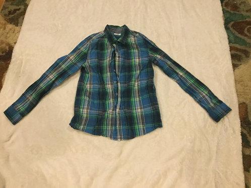 Cat Jack Blue Green Long Sleeve Dress Shirt
