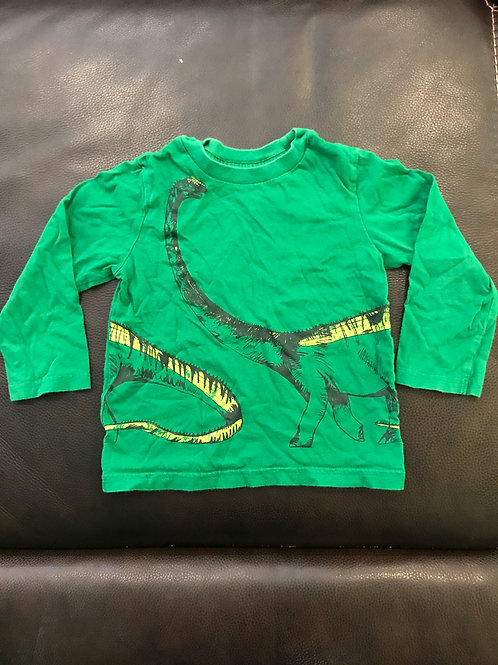 Childrens Place long slve Green Dino tee