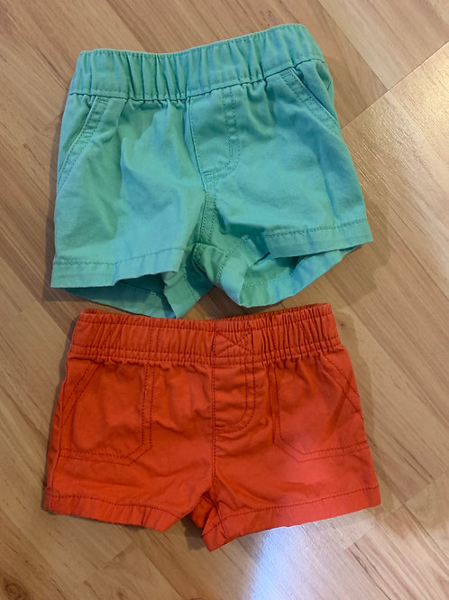 Carters orange & green shorts