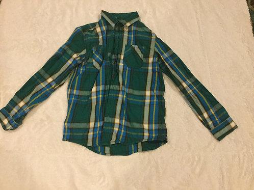 Cherokee Green Blue Yellow LS Dress Shirt