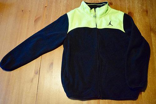 Jordan full zip 10-12 Bright green black fleece