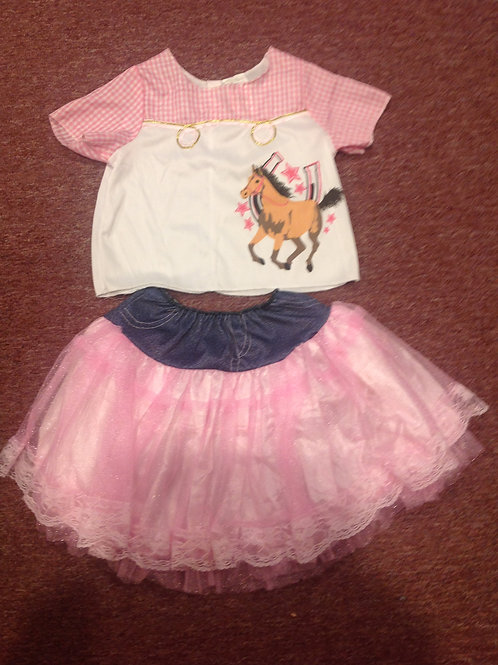 Cowgirl costume 2 piece skirt horse
