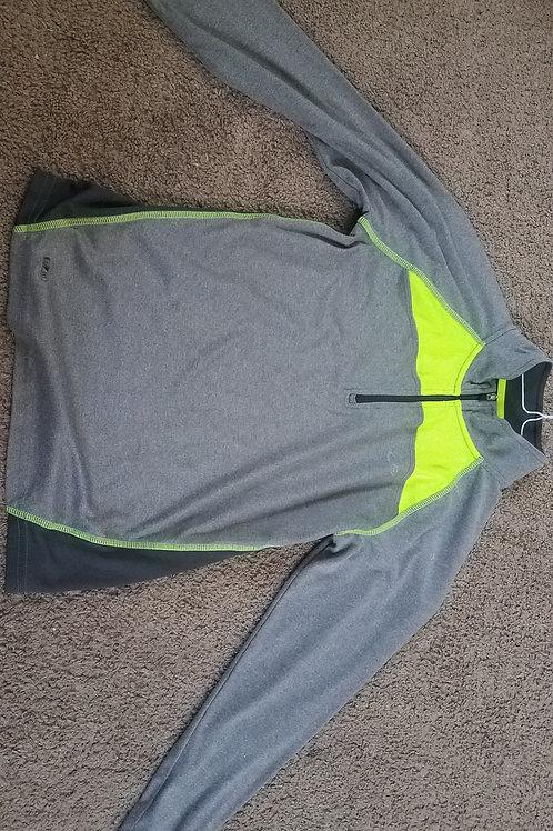 Champion 1/2 zip gray Neon yellow