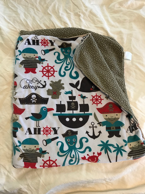 just to you Baby Pirate Sherpa blanket