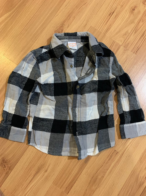 jumping beans black gray flannel