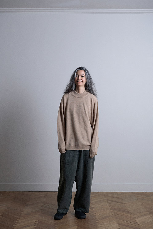 WOOL CASHMERE MOCK NECK