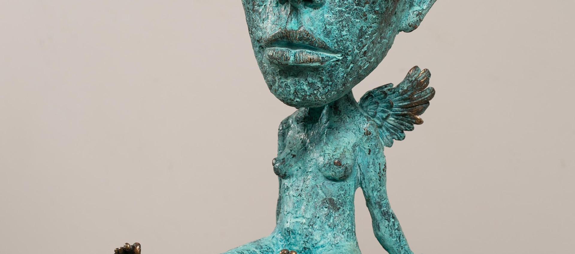 Alina Bachurina. Gnossienne III, 2020, bronze, stone, 46х32 cm