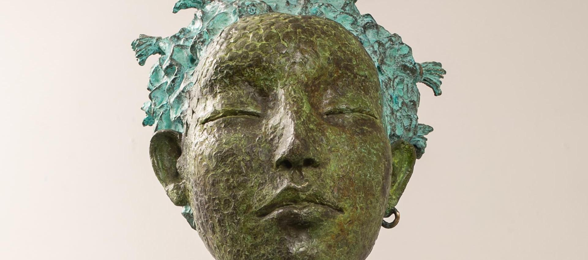Alina Bachurina. Gnossienne VІ, 2020, bronze, stone, 64х24 cm