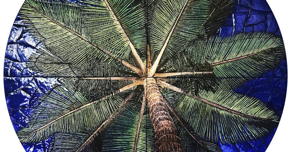 Олексій Коваль. Під пальмою, 2019, мідь, емалі, Д-196 .jpg