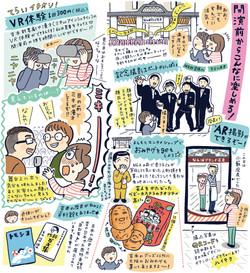「関西ウォーカー」2019年12月号 お笑い劇場まるわかりガイド イラストエッセ