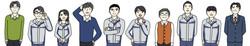 協和設計企業紹介パンフレット 社員似顔絵イラスト<株式会社スギタプリディア>