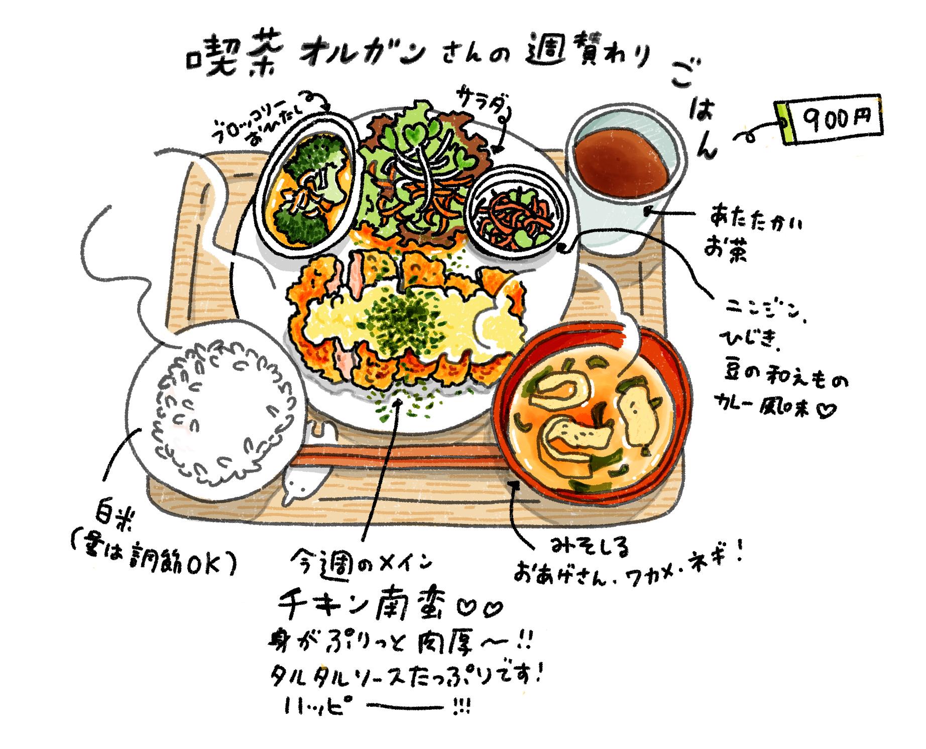 喫茶オルガン 日替わり定食