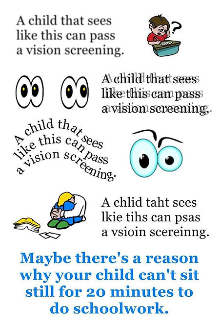 visual problems that children don't know isn't normal