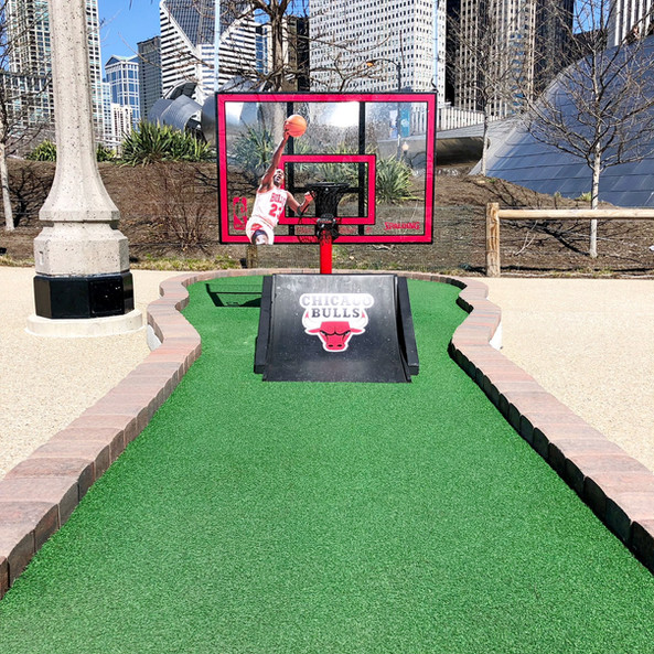 Chicago Bulls basketball hoop hole