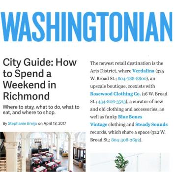 Blue Bones featured in Washingtonian.